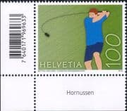 Switzerland 2018 Hornussen/ National Sports/ Games/ Animation 1v with Bar Code (ch1063)