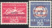 Switzerland (UN Offices) 1960   WRY/ Refugees/ People/ Welfare/ United Nations   2v set o/p (n45314)