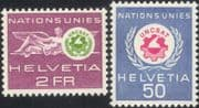 Switzerland (UN Offices) 1963 UNCSAT/ United Nations/ Conference/ Science/ Technology 2v set (n45314)