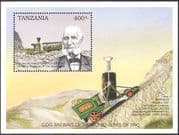 Tanzania 1990 Mt Washington Cog Railway/ Trains/ Steam Engine/ Locomotive/s Transport 1v m/s (n42779)