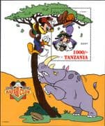 Tanzania 1994 Disney/ Mickey/ Goofy/ Cartoons/ Safari Club/ Rhino/ Camera/ Photography 1v m/s b1072a