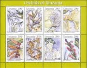 Tanzania 1994  Orchids/ Flowers/ Plants/ Nature/ Orchid/ Conservation  8v m/s  (b4222c)