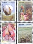Tanzania 2003 Cash Crops/ Plants/ Nature/ Food/ Cotton/ Nuts/ Spice/ Farming   4v set (b6002a)