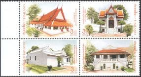 Thailand 2006 Thon Buri Palace/ Buildings/ Architecture/ Heritage 4v blk (n43505)