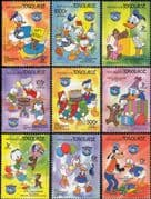 Togo 1984 Walt Disney/ Donald Duck 50th Anniversary/ Cartoons/ Animation 9v set (b1605f)