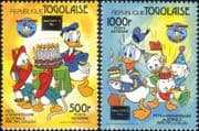 Togo / Togolaise 1986 Walt Disney/ Donald Duck/ Cartoons/ Animation/ StampEx 2v set (b1605e)