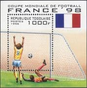 Togolaise / Togo 1996 France'98/World Cup/WC/Football/ Sports/ Games/ Soccer 1v m/s (b5244)