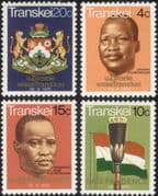 Transkei 1976 Independence/ People/ Flag/ Coat-of-Arms/ Mace/ People 4v set (b9977q)