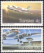 Transkei 1977 Aviation/ Planes/ Aircraft/ Airline/ Airport/ Buildings/ Architecture/ Commerce/ Business 2v set (n44524)