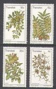 Transkei 1978 Edible Wild Plants  /  Flowers 4v set  n21858
