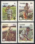 Transkei 1982 Scouts  /  Dog  /  Tree  /  Youth 4v set (n26205)
