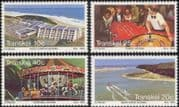 Transkei 1983 Hotel/ Carousel/ Horses/ Casino/ Gambling/ Sailing/ Tourism/ Buildings/ Architecture 4v set (b9977k)