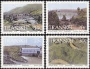 Transkei 1986 Hydro-Electric Power Stations/ Dam/ Energy/ Power/ River/ Engineering/ Buildings/ Architecture 4v set (n21845)