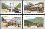 Transkei 1986 Port St Johns/ Buildings/ Boats/ Oxen/ Carts/ Cattle/ Transport/ Animals/ Trade/ Commerce/ Heritage/ History 4v set (b9977h)