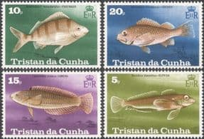 Tristan da Cunha 1978 Fish/ Marine/ Nature/ Wildlife/ Environment 4v set (n44975)