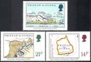 Tristan da Cunha 1981 Early Maps/ Ships/ Transport/ History /Geography 3v set n41432