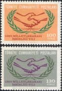 Turkey 1965 ICY/ IYC/ Co-operation Year/ Handshake/ Hands/ Animation 2v set (n45415)