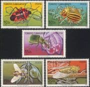Turkey 1982 Harmful Insects/ Pests/ Beetles/ Flies/ Bugs/ Nature/ Environment 5v set (n44887)