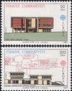Turkey 1987  Europa/ Buildings/ Architects/ Architecture/ History Institution  2v set  (ex1105)