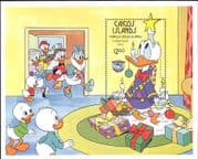 Turks & Caicos 1984 Disney/ Donald Duck/ Christmas/ Xmas/ Cartoons 1v m/s (b4762a)
