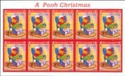 Turks & Caicos 1996 Christmas/ Disney/ Winnie the Pooh/ Bear/ Cartoons/ Animation  10v sht (b6070n)