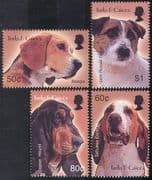 Turks & Caicos 2003 Dogs/ Pets/ Working/ Domestic Animals 4v set (n41332)