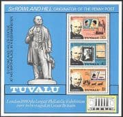 Tuvalu 1979 Rowland Hill  /  Horses  /  Coach  /  Boat  /  Postal Transport  /  S-on-S 3v m  /  s n41064
