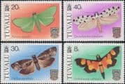 Tuvalu 1981  Moths/ Moth/ Insects/ Nature/ Conservation/ Butterflies  4v set  (b5221c)