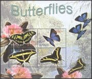 Tuvalu 2003 Butterflies/ Butterfly/ Insects/ Nature/ Conservation/ Environment 4v m/s (n14950)