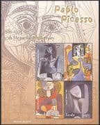 Tuvalu 2004 Pablo Picasso  /  Art  /  Paintings  /  Sculpture  /  Artists  /  People 4v m  /  s (n40530)