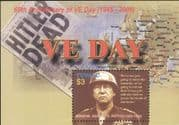 """Tuvalu 2005 """"VE Day""""/ Patton/ WWII/ Military/ Army/ War/ Battles/ Maps/ People 1v m/s (n15538h)"""