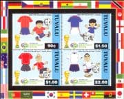 Tuvalu 2006 2006 Football World Cup Championships/ WC/ Soccer/ Sports 4v m/s (n16806)