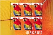 Tuvalu 2014   Macaw/ Birds/ Nature/ Wildlife/ Conservation/ Parrots 6 x 1v sht (n46279)