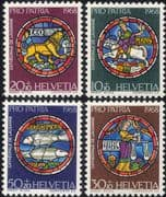 Switzerland 1968 Pro Patria/ Welfare Fund/ Star Signs/ Stained Glass/ Craft/ Astrology 4v set ch1031