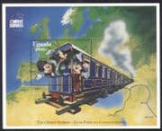 Uganda 1996 Disney/ Trains/ Orient Express / Railways/ Rail/ Mickey/ Map/ Cartoons  1v m/s (b6296)