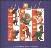 Uganda 1997 Disney Toy Story/ Woody/ Buzz/ Rex/ Dinosaurs/ Films/ Cinema/ Animation 6v m/s b435