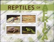 Uganda 2014  Snake/ Lizard/ Tortoise/ Crocodile/ Nature/ Animals/ Wildlife  4v m/s (s1032a)
