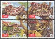 Ukraine 2002 WWF/ Leopard Snakes/ Endangered Animals/ Nature/ Wildlife/ Conservation/ Environment 4v set s-t blk (s15)