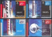 Ukraine 2005 Space Exploration/ Research/ Rockets/ Satellites/ Science  4v set (n24124)