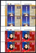 Ukraine 2007 Space/ Rocket/ Leonid Kadeniuck/ Astronaut/ Transport/ Science/ people 2v set c/b (n28725a)