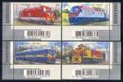 Ukraine 2010 Trains/ Locomotives/ Rail/ Railways/ Transport 4v set + barcodes (n28724a)