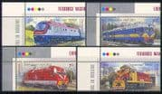 Ukraine 2010 Trains/ Locomotives/ Rail/ Railways/ Transport 4v set + controls (n28724b)