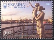 Ukraine 2014 Sailors Monument/ Statue/ Mother/ Child/ Harbour/ Ships/ Boats/ Art/ Sculpture/ Transport  1v (n44025)