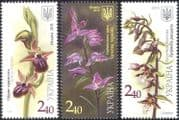 Ukraine 2015 Orchids/ Plants/ Nature/ Flowers/ Helleborine 3v set (n44256)