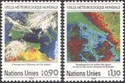 UN (G) 1989 World Weather Watch/ Satellite Images/ Maps/ Space/ Meteorology/ IMO/ WMO 2v set (n19332)