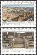 UN (NY) 1984 UNESCO/ Temple/ Grand Canyon/ Buildings/ Heritage/ Nature 2v set (n43000)