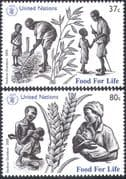 UN (NY) 2005 Food for Life/ Hunger/ Crops/ Farming/ Corn/ Plants/ Nature/FAO 2v set (n35071)