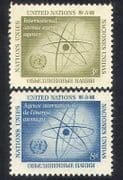 UN  /  United Nations 1958 Atomic Energy Authority  /  Atom  /  Nuclear Power 2v set n39011