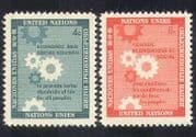 UN  /  United Nations 1958 Economic & Social Council  /  Cogwheels 2v set (n39014)
