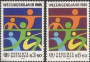 UN (V) 1984 International Youth Year/ IYY/ People/ Animation 2v set (n27799)